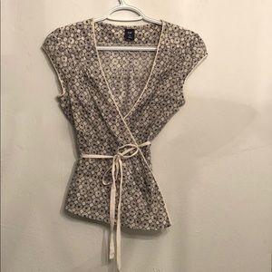 Eyelet detail, GAP wrap blouse.